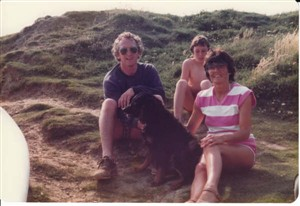 Photo:Dad, Paul, Mum and Danny the dog
