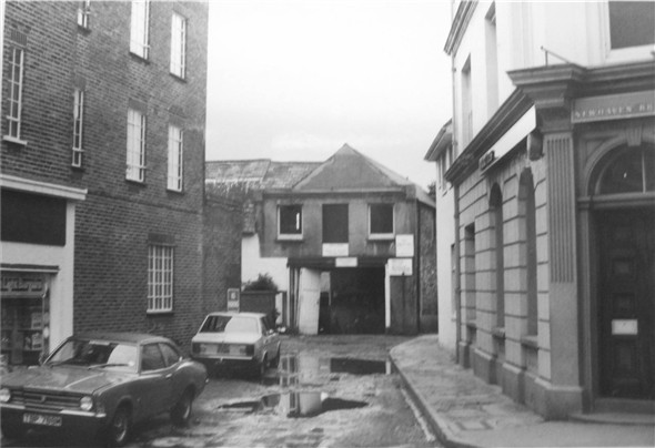 Photo:South Lane looking south from the High Street - c1975