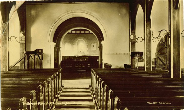 Photo:Inside the church - 1900