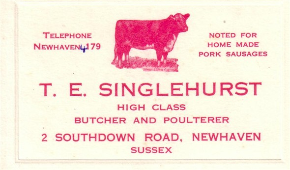 Photo: Illustrative image for the 'SINGLEHURST BUTCHER' page
