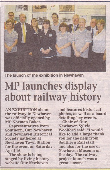 Photo: Illustrative image for the 'RAILWAY HISTORY LAUNCH AT NEWHAVEN TOWN STATION 2011' page