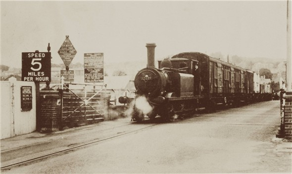 Photo:Terrier 32678 coming over the bridge - C1960