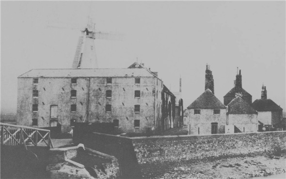 Photo:Tidemills flour mill (looking north)
