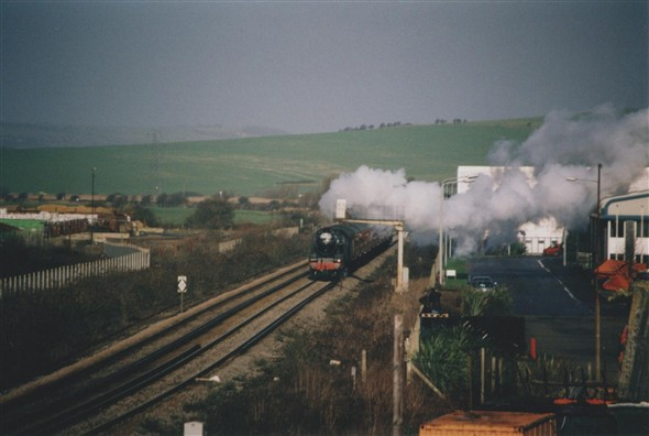 Photo:Entering Newhaven - February 2002