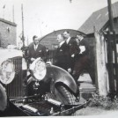 Photo:HRH Prince George Duke of Kent, returns to his Bentley after the christening 7/7/1931