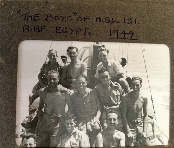 "Photo:""The Boys"" of H.S.L. 121 Egypt 1944"