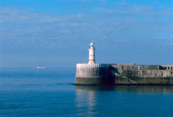 Photo:Departing Newhaven with Dar Pomorza in the distance