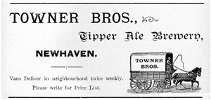 "Photo:An advert for the Towner Brewery famed for it's ""Tipper"" ales"