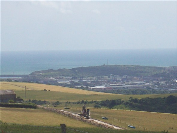 Photo:View across Mount Pleasant to Newhaven from Firle beacon