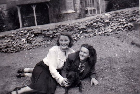 Photo:Valerie Wiltshire with my dads sister Marion