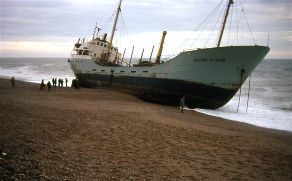 Photo:MV Walter Richter eastside beach