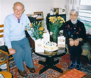 Photo:His 65th Wedding Anniversary, with his wife Ellen