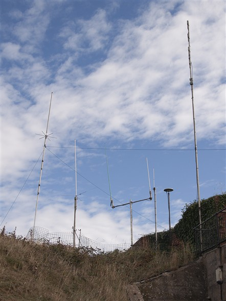 Photo:Some of the station's radio antennas