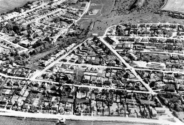 Photo:Aerial View of Denton - 1964