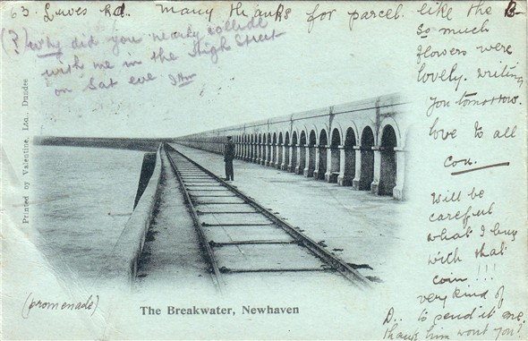 Photo:Breakwater and Tramway - c1902