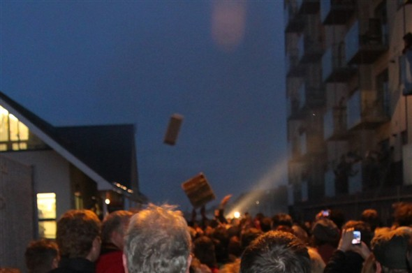 Photo:Dozens of boxes were in the air - I got hit fair and square!