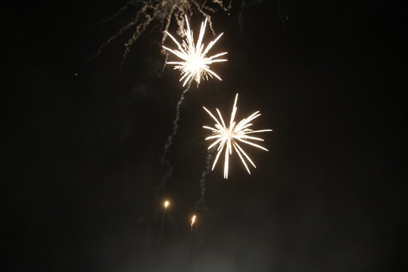 Photo:Aerial fireworks too