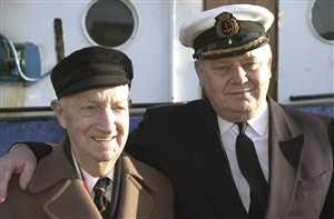 Photo:With Captain Bob Domin at Meeching's decommissioning in 2000.
