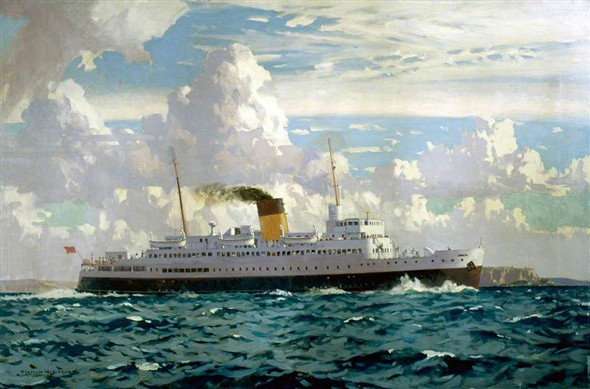 Photo:Norman Wilkinson's painting of Falaise, as used on the flyer