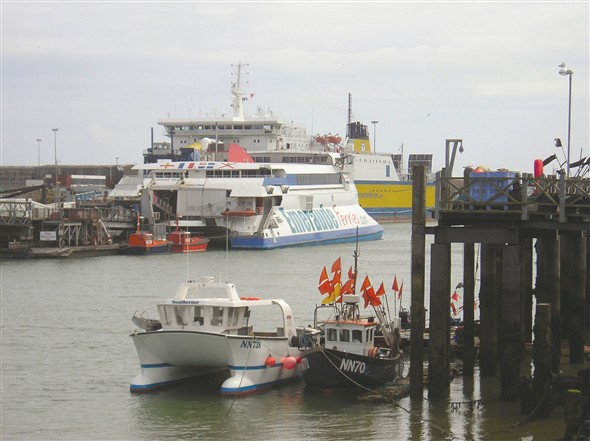 Photo:Ferries at Newhaven
