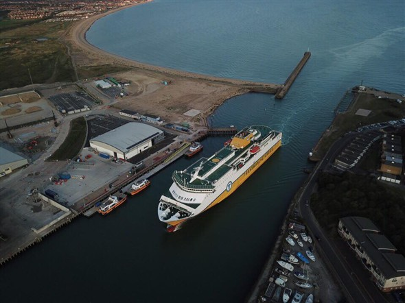Photo: Illustrative image for the 'A TRANSMANCHE FERRY ENTERING THE HARBOUR' page