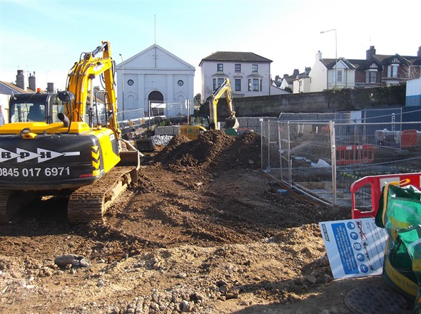 Photo:Building work at the Saxonholme site