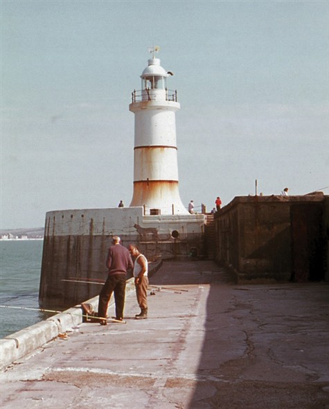 Photo:Fishing from the breakwater in 1973