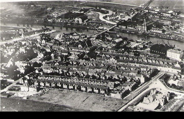 Photo: Illustrative image for the 'AERIAL VIEW OF NEWHAVEN 1920'S' page