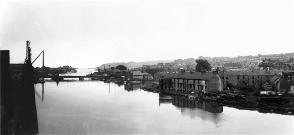 Photo:Panoramic view from the North Quay - c1961