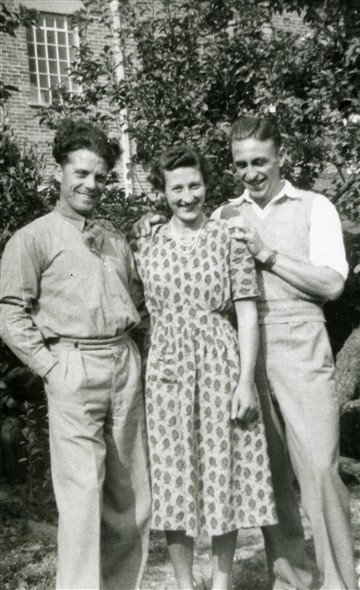 Photo:Charlie Vinall, Marcia Stapley & Bob [Marcia's boyfriend at this time], mid-1950s