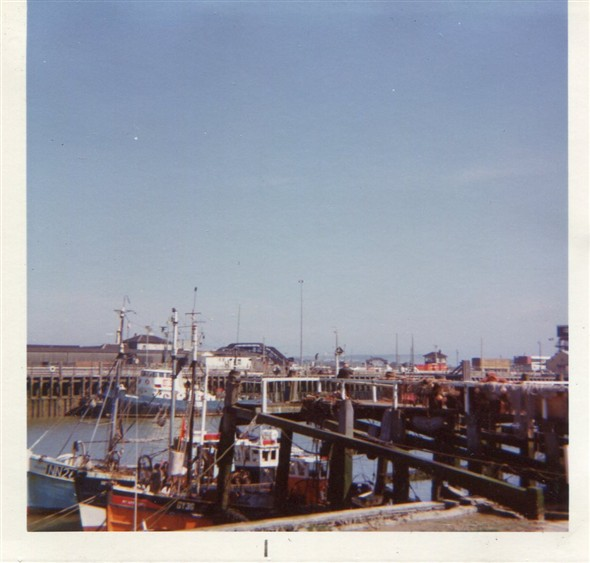 Photo:The tug Meeching and some fishing boats