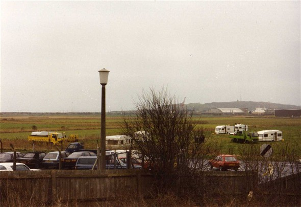 Photo:Travellers camping Febuary 1989.