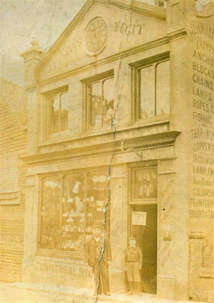 Photo:This store was demolished in the 1950s I remember back then that it was trading as Wharnes Stores, the road that it was in then was known as Riverside.