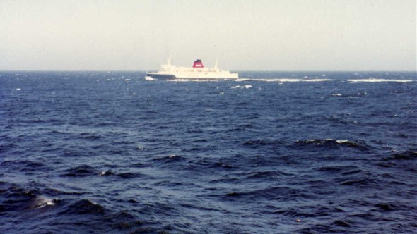 "Photo:June 1982, The ""Chartes"" at sea."