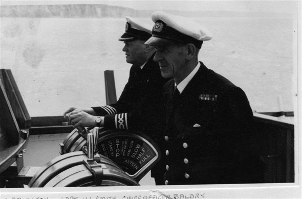Photo:Left Captain Harry L Smith with Chief Officer Baldry