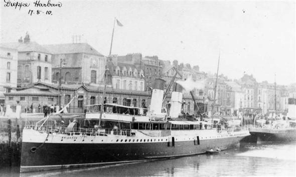 Photo:S.S.Brighton IV 1903-1930 at Dieppe 17th August 1910.