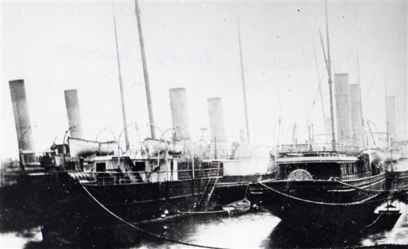 Photo:Paddle Steamers --   Bordeaux--Paris II and Alexandra, pre 1888?