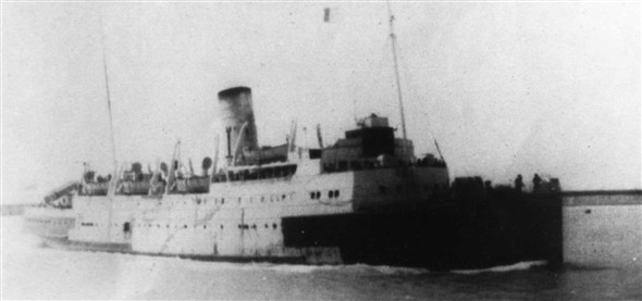 Photo:The Worthing as H M S Brigadier seen from the East Pier during the1940`s