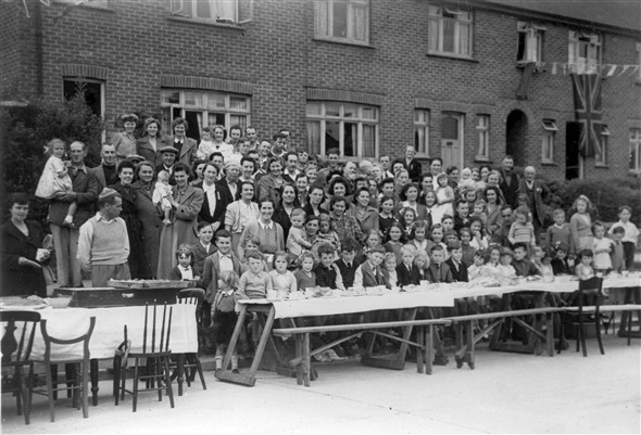 Photo:VE Day party