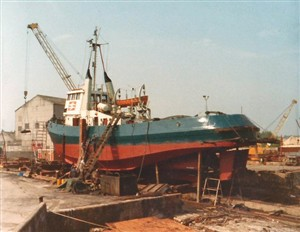 Photo:1970's. Refit at Everards, Greenhithe.