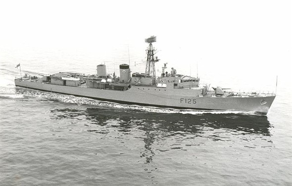 Photo:HMS Mohawk. She handled the early stages of the incident.