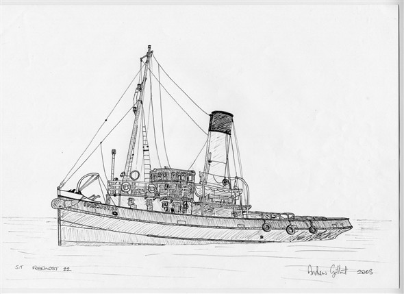 Fishing Ship Drawing Photo:foremost 22