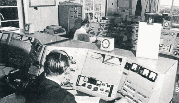 Photo:Operators at Niton Radio, which broadcast mayday relay messages and warned shipping about the risk of further explosions. They also co-ordinated inter-ship messages on 2182 KHz during the incident.