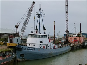 Photo:Nore-Crest at Klondyke Wharf, Queenborough. December 26th 2012