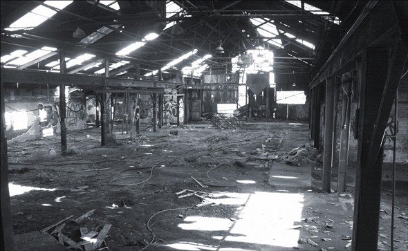 Photo:Inside the derelict Haven Foundry