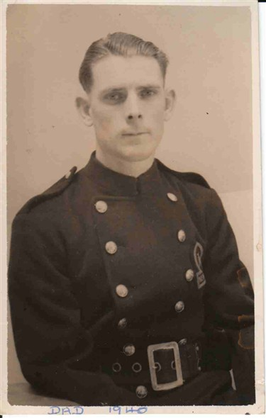 Photo:Fred Bailey (my dad) in the Fire Service - Newhaven