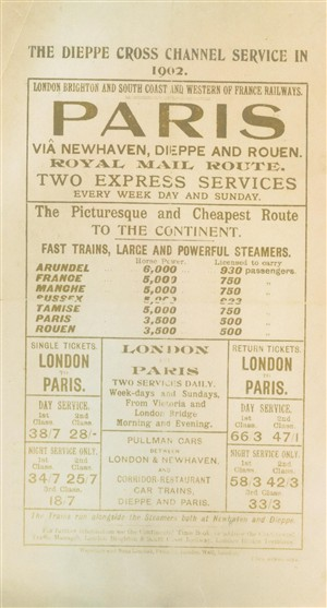 Photo:Paris London Advert