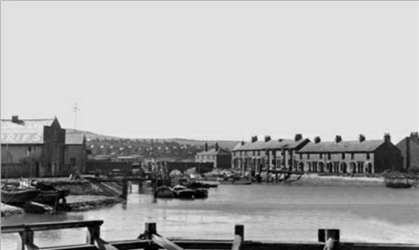 Photo:View from old Bridge towards Denton Island (Sefton Terrace) and old Riverside - c1961