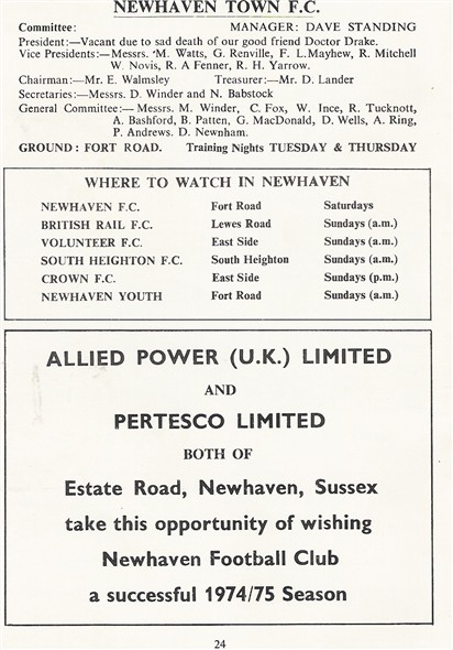 Photo: Illustrative image for the 'NEWHAVEN TOWN FOOTBALL CLUB' page