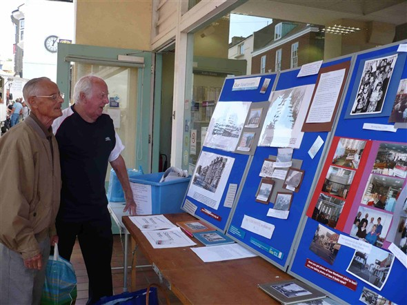 Photo:Our exhibition outside the library